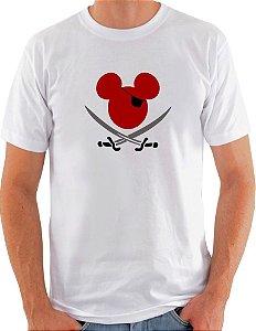 Camiseta Unisex O Pirata Mickey