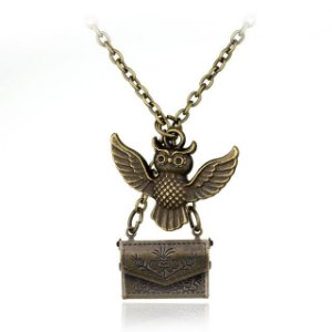 Colar Coruja em bronze