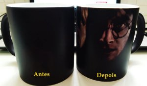 Caneca Mágica Faces Rony, Hermione e Harry Potter