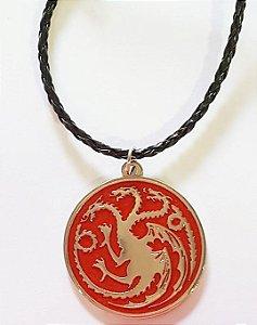 Pingente Game of Trhones Brasão Targaryen Vermelho