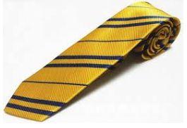 Gravata Amarela listrada