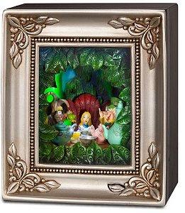 Edição Limitada - Quadro Alice no Pais das Maravilhas Disney Gallery of Light