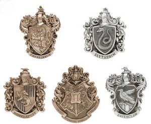 Brasões Casas de Hogwarts Oficiais Noble Collection