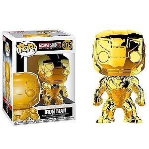 Funko Pop Avengers Iron Man 375 - Edição Especial Os Primeiros 10 anos Marvel Studios (Gold)