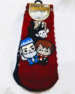 Kit com 3 pares de meias soquete - Harry Potter