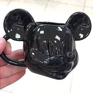 Caneca de Porcelana Preta - Mickey Mouse