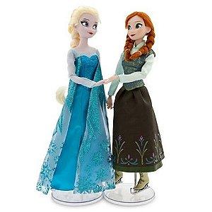 Bonecas Frozen Anna e Elsa Patinadoras (30 cm)