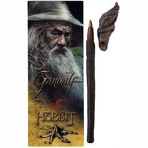 Exclusiva Caneta Original Cajado Gandalf acompanha marcador de livro
