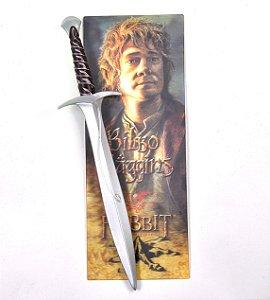 Exclusiva Caneta Original Espada do Hobbit Bilbo o Bolseiro acompanha marca página