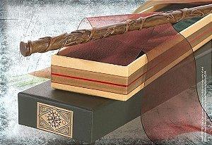 Réplica Oficial e Original Varinha Hermione Granger na caixa Olivanders por Noble Collection