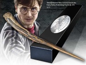 Réplica Oficial e Original Varinha Harry Potter (Sequestrador) na caixa simples por Noble Collection