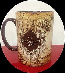 Exclusiva Caneca Oficial Mapa do Maroto imagens em alto relevo