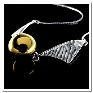 Colar Pomo de Ouro folheada em ouro e prata (Produto Nacional)