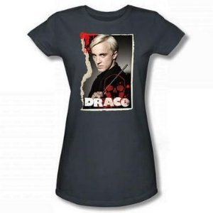 Exclusiva Camiseta Feminina Cinza Draco Malfoy Oficial Harry Potter