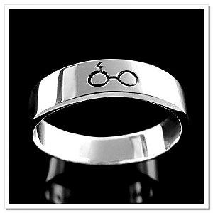 Aliança Óculos Harry Potter folhado Prata