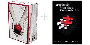 Kit Livros Crepúsculo (Box completo com 5 livros capa branca + Guia Oficial Ilustrado)