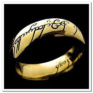 Anel Senhor dos Anéis - Versão com escrita - Acompanha cordão em couro