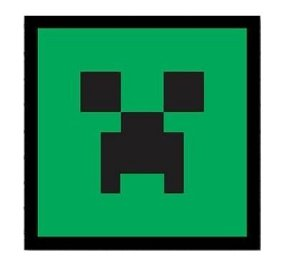 Placa decorativa Minecraft Creeper Face