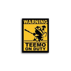 Placa Decorativa Teemo On Duty
