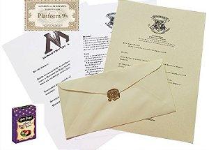 Kit Feijõezinhos de todos os sabores, Carta de aceitação em Hogwarts e Ticket Expresso