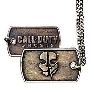 Pingente Placa Call of Duty (Acompanha colar em aço)