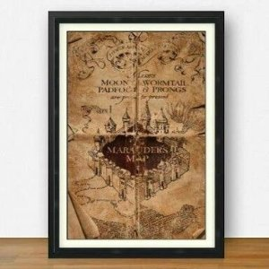 Quadro Harry Potter Mapa do Maroto