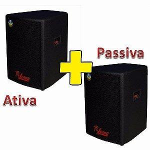 Kit Caixa Ativa+passiva Leacs Pulps 480 Watts