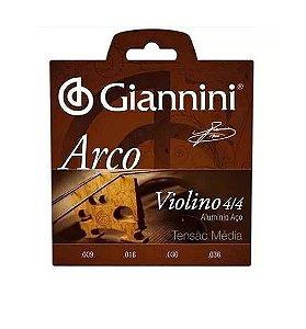Encordoamento Giannini Violino Arco Alumínio