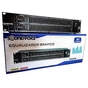 Equalizador Gráfico Soundvoice EQ231 31 Bandas Estereo
