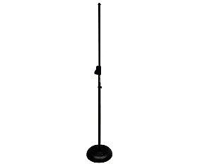 Pedestal Reto para Microfone Saty PSR BF Base de Ferro