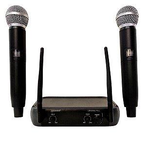 Microfone Duplo Sem Fio Lexsen LM258UPLL UHF
