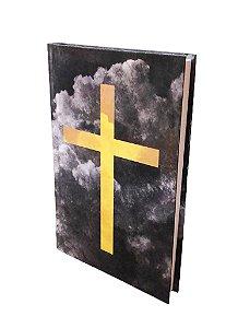 Biblia Sagrada Cruz Dourada ACF Letra Normal Capa Dura
