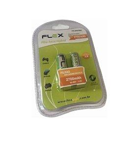 Pilha Recarregável AA Flex FX-AA27B2 1.2V 2700mAh 2 Unidades