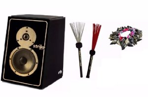 Kit Cajon Fsa Strike Soundbox Vassouras Canela E Unha