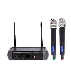 Microfone VHF com 2 canais - LM-258V - Lexsen