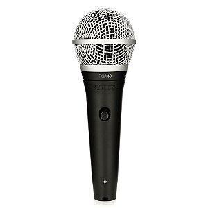 Microfone de mao dinamico cardioide para vocais - PGA48-QTR - Shure