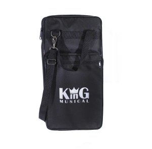Porta Baquetas Bag de Luxo Estojo Alça Semi Case Preta