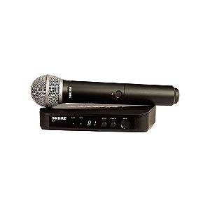 Sistema sem fio com microfone de mao - BLX24BR/PG58-M15 - Shure