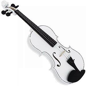 Violino Jahnke Popular Colors 4/4 Branco Com Case Arco E Breu