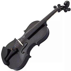 Violino Jahnke Colors Preto Com Case Arco E Breu