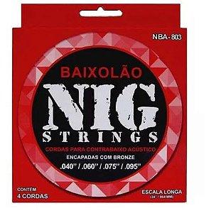 Encordoamento Para Baixolão Nig NBA-803 040 4 Cordas