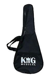 Capa para Ukulele Concert KING MUSICAL Simples Preto