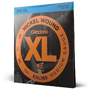 Encordoamento Baixo 4C .050 D Addario XL Nickel Wound EXL160