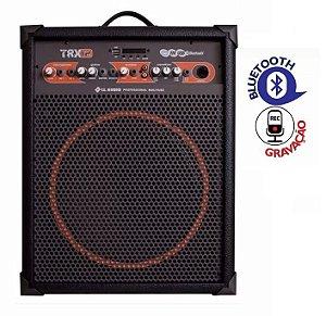Caixa De Som Amplificada LL Audio TRX12 Multiuso Com Gravador Usb Rádio Fm