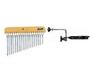 Kit Carrilhão Com 18 Barras Aluminio Ta308 Com Suporte Reto Para Fixar Ta428