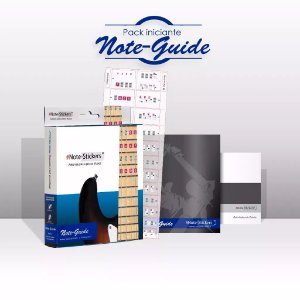 Adesivos Didáticos Note Stickers Note Guide Para ContraBaixo 4 Cordas