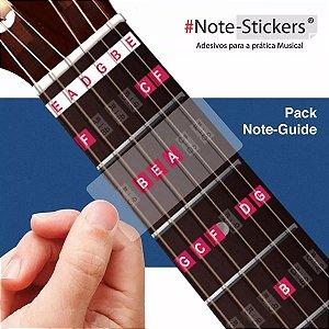Adesivos Didáticos Note Stickers Para Violão Nylon