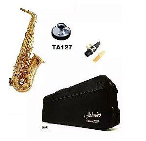 Kit Saxofone Alto Eb Jahnke Com Surdina Torelli Ta127 E Estojo