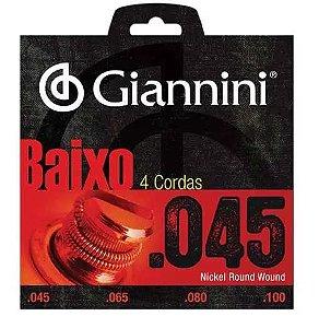 Encordoamento Giannini Para Baixo 045 Com 4 Cordas