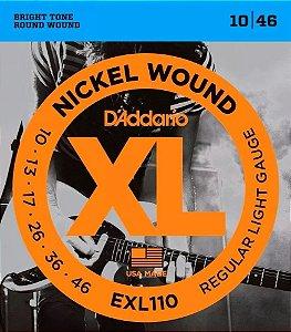 Encordoamento Para Guitarra Daddario 010 Exl110